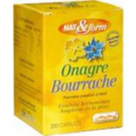 Atlantic Nature Capsules Nat et Form Huile Onagre Bourrache 200 Capsules