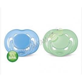 Avent sucettes 6-18 mois ultra-aérées verte et bleue  sans BPA lot de 2