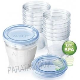 Avent système de conservation lait maternel, 10x180 ML