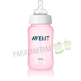 Avent Biberon rose sans BPA 330 ml