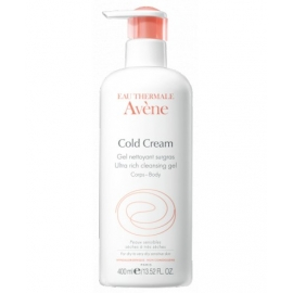 Avène Cold Cream Gel Nettoyant Surgras Flacon Pompe 400 ML