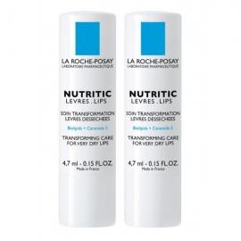 La Roche-Posay Nutritic Lèvres Soin Transformation Lèvres Desséchées  Lot 2 X 4,7 ml