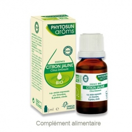 Phytosun Aroms Huile Essentielle Citron Jaune Bio 5 ml