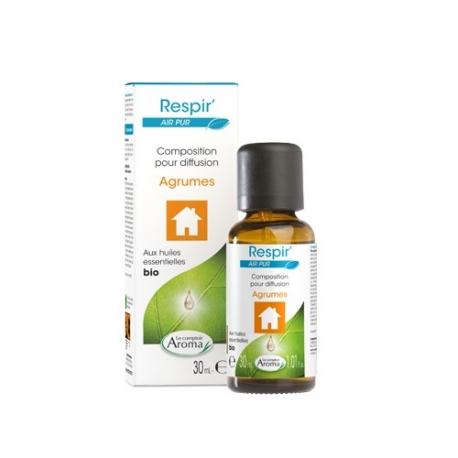 Le Comptoir Aroma Air Pur Composition pour diffusion Bio Agrumes 30 ml