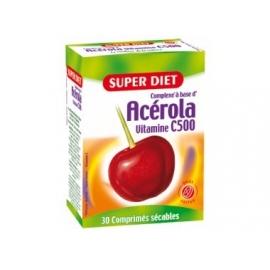 Super Diet Acerola Viamine C500 30 Comprimes