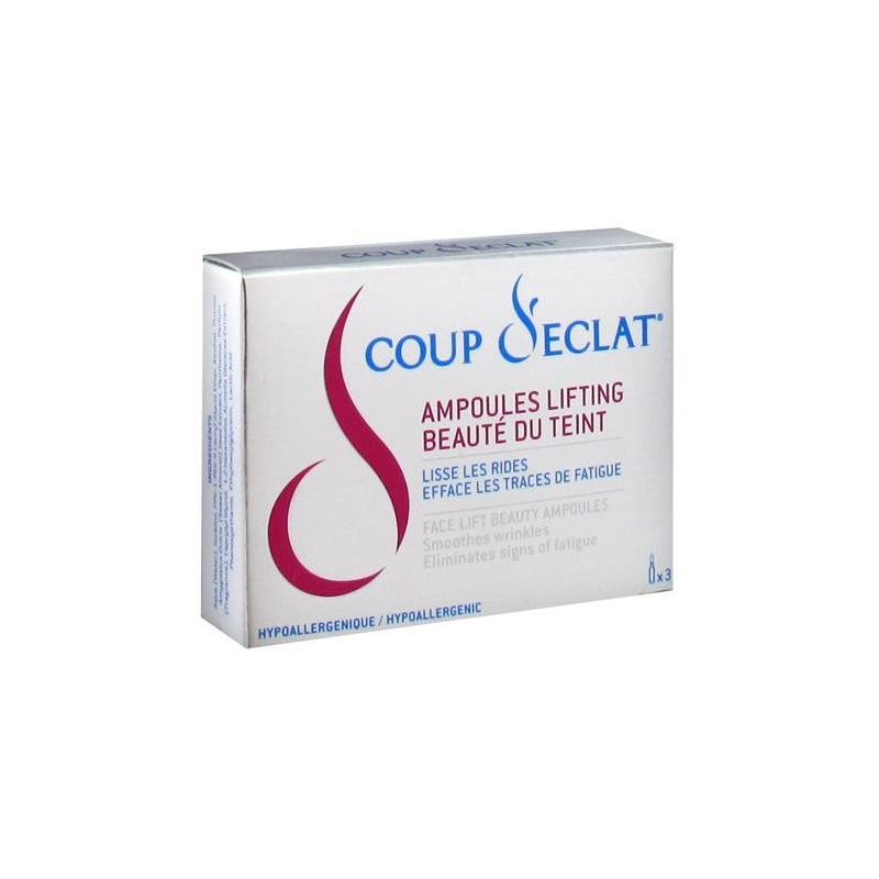 Coup d eclat ampoules lifting 1 ml x 3 - Coup eclat lifting ampoules ...