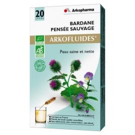 Arkopharma Arkofluides Bio Bardane - Pensée Sauvage 20 Ampoules