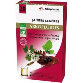 Arkopharma Arkofluides Bio Jambes Légères 20 Ampoules