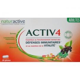 Naturactive Activ 4 Défenses Immunitaires Adultes 2 x 28 gélules