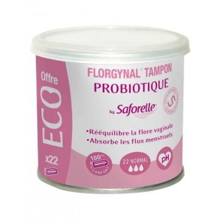 Saforelle Florgynal Tampon Probiotique Normal X 22 Tampons