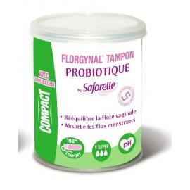 Saforelle Florgynal Tampon Probiotique Super x 9 Tampons
