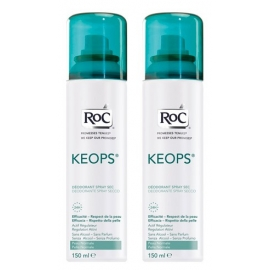 Roc Keops Deodorant Sec Spray 150 ML X 2