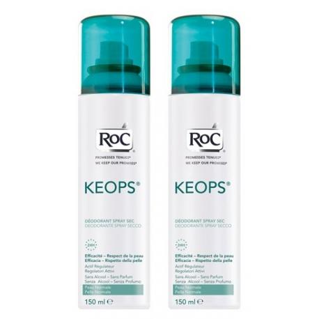 Roc Keops Deodorant Sec Spray 150 ML X 2