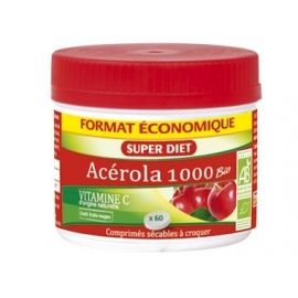 Super Diet Acérola 1000 Vtiamine C Bio 60 comprimés