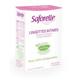 Saforelle Lingettes Muqueuses Peaux Sensibles 10 Lingettes