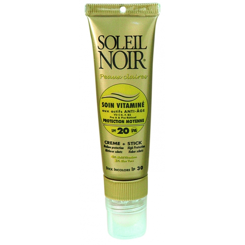 soleil noir soin vitamin cr me spf20 tube 20 ml stick spf 30 2 g. Black Bedroom Furniture Sets. Home Design Ideas