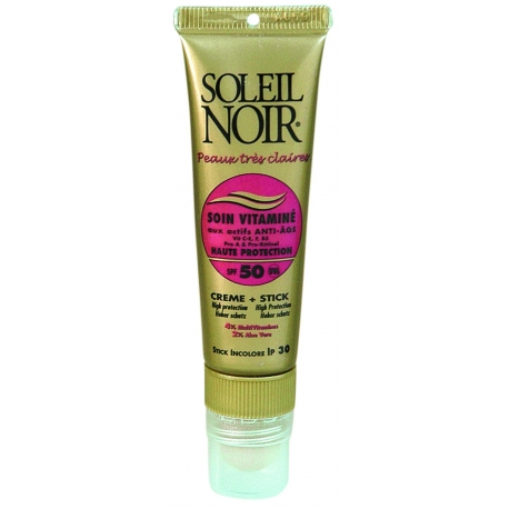 Soleil Noir Soin Vitaminé Crème SPF50 tube 20 ml + Stick Spf 30 2 g