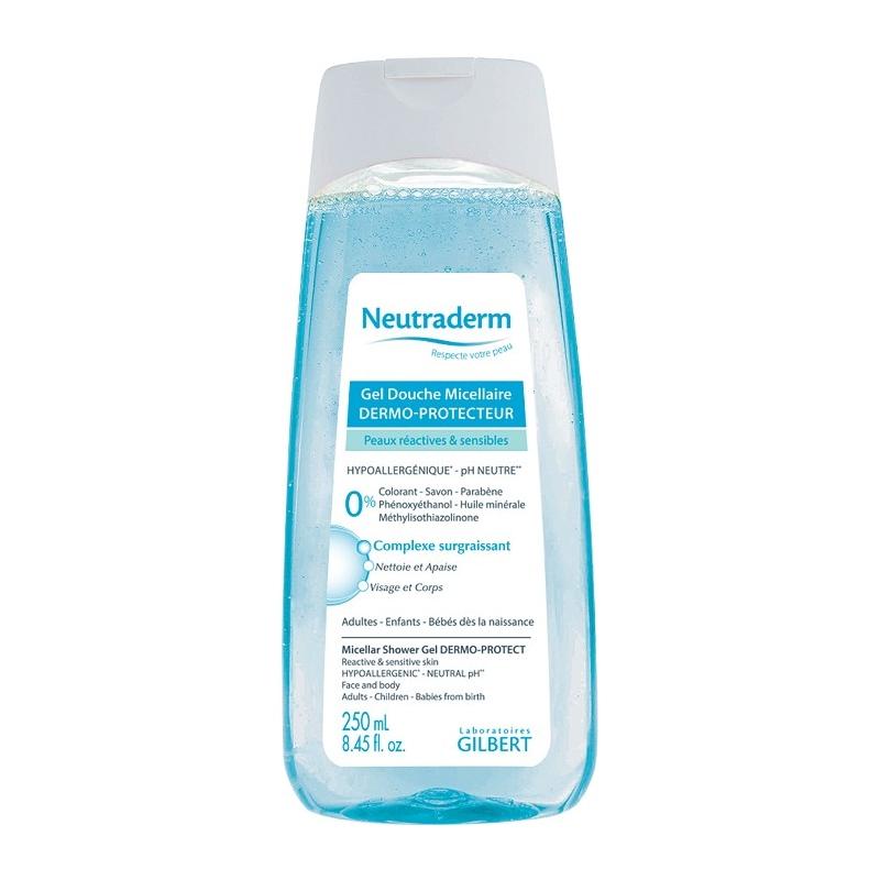 neutraderm gel douche micellaire dermo protecteur 250 ml. Black Bedroom Furniture Sets. Home Design Ideas