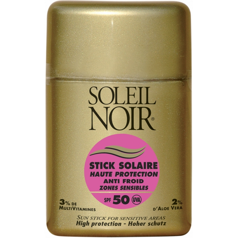 soleil noir stick solaire zones sensibles spf50 10g. Black Bedroom Furniture Sets. Home Design Ideas
