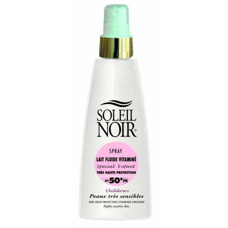 Soleil Noir Lait Fluide Vitaminé Spécial Enfant SPF 50+ Spray 150 ml