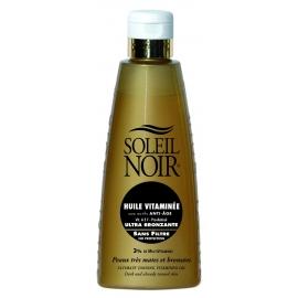 Soleil Noir Huile vitaminée sans filtre Ultra Bronzante 150 ml