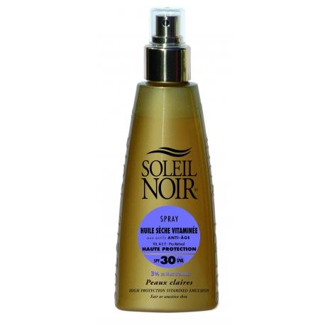 Soleil Noir Huile Sèche Vitaminée Spf 30 Spray 150 ml