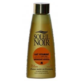 Soleil Noir Lait Vitaminé Indice 4 Bronzage Intense 150 ML