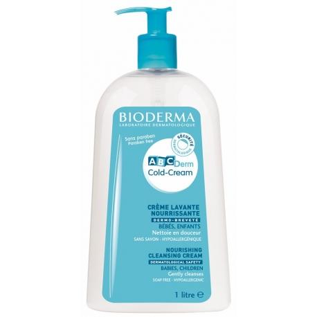 Bioderma ABCDERM Cold Cream crème lavante 1 L