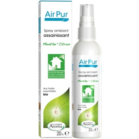 Le Comptoir Aroma Air Pur Spray Ambiant assainissant Bio Menthe-Citron 200 ml