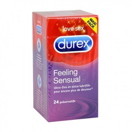 Durex Préservatif Feeling Sensual x 24