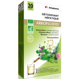 Arkopharma Arkofluides Détoxifiant Hépatique Bio 20 ampoules