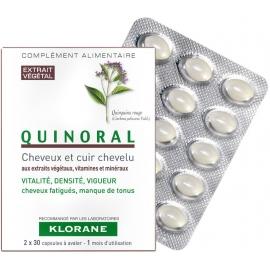 Klorane Capillaire Quinoral Anti-chute 2 x 30 capsules + 1 boîte offerte