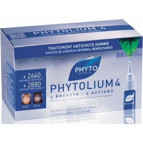 Phyto Phytolium 4 Traitement Anti-chute Hommes 12 x 3,5 ml