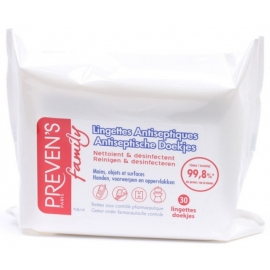 Preven's Family Lingettes Antiseptiques x 30