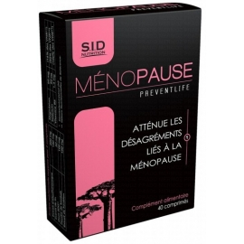 S.I.D Nutrition preventlife Menopause 40 comprimés