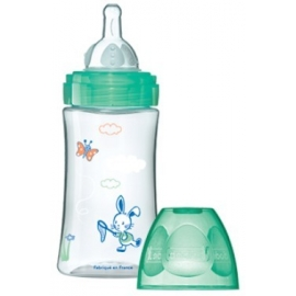 Dodie Biberon Initiation+ Vert Lapins 270 ml