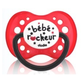 "Dodie Sucette Silicone + 18 mois "" ROCK"""