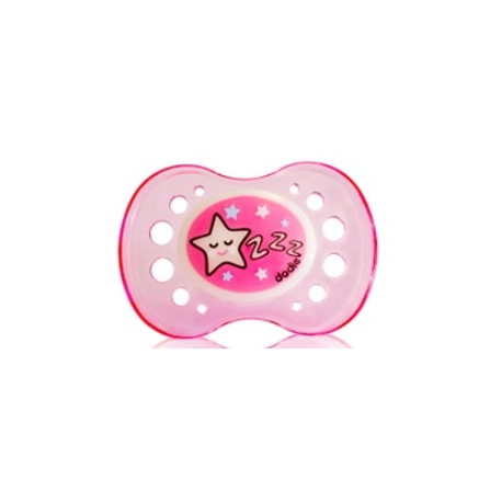 Dodie Sucette Silicone + 6 mois Nuit Rose