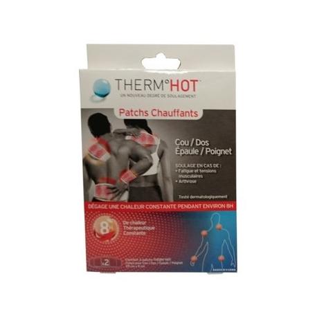 Therm°Hot Patchs Chauffants Cou/Dos/Epaule/Poignet  x 2
