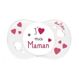 """Luc et Léa Sucette Symétrique """"J'aime ma Maman"""" 0-6 mois"""