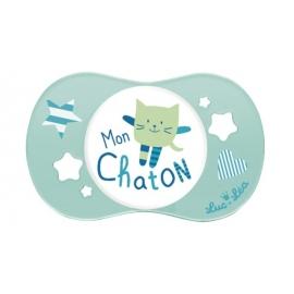 """Luc et Léa Sucette Symétrique """"Mon Chaton"""" 0-6 mois"""