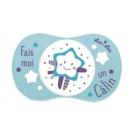 """Luc et Léa Sucette Symétrique """"Fait moi un Calin"""" 6-18 mois"""