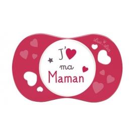 """Luc et Léa Sucette Symétrique """"J'aime ma Maman"""" 6-18 mois"""