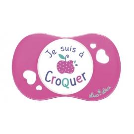 """Luc et Léa Sucette Symétrique Je suis à Croquer"""" + 18 mois"""