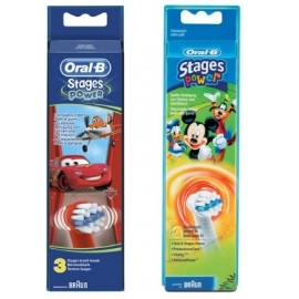Oral-B Stages Power Brossettes de Rechanges Kids Garçon x 3