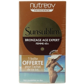 Nutréov Physcience Sunsublim Bronzage Anti-age Femme 45+ 2 x 28 C