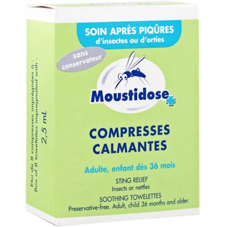 Moustidose Compresses Calmantes x 8