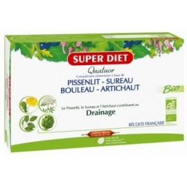 Super Diet Quatuor Drainage Bio 20 Ampoules