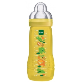 MAM Biberon Easy Active 6+ Mois Jaune 330 ml