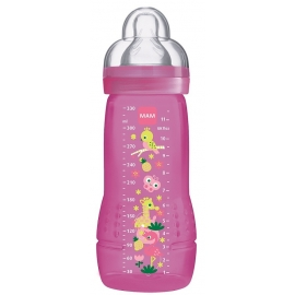 MAM Biberon Easy Active 6+ Mois Fushia 330 ml